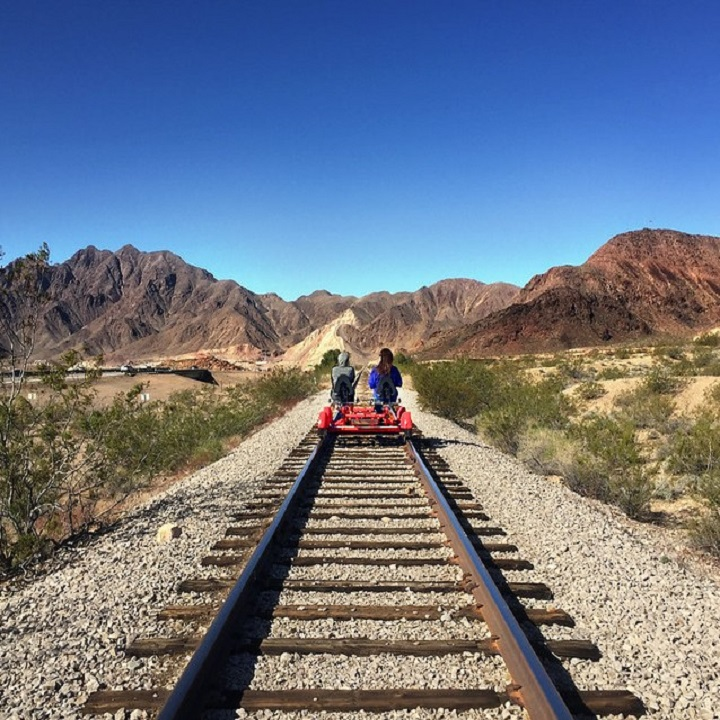 Rail Explorers Las Vegas via The Vox Agency for use by 360 Magazine