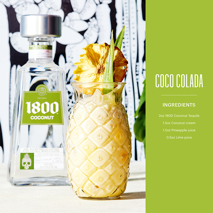 1800 Tequila Coconut Colada image for use by 360 Magazine