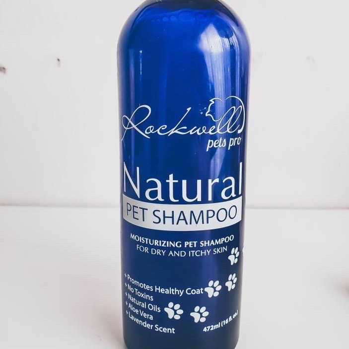 Rockwell Pro Pet's Natural Dog Shampoo image via Maggie Douglas at Everything Branding for use by 360 Magazine