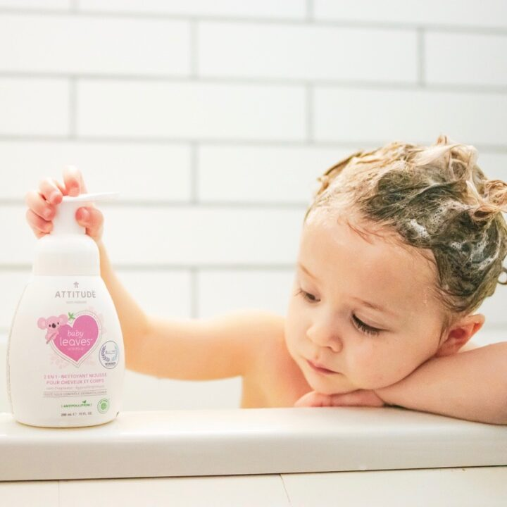 2-in-1 Shampoo & Body Wash by baby leaves sold by Attitude Natural Care image via Lindsey Hytrek from ChicExecs Brand Development for use by 360 Magazine