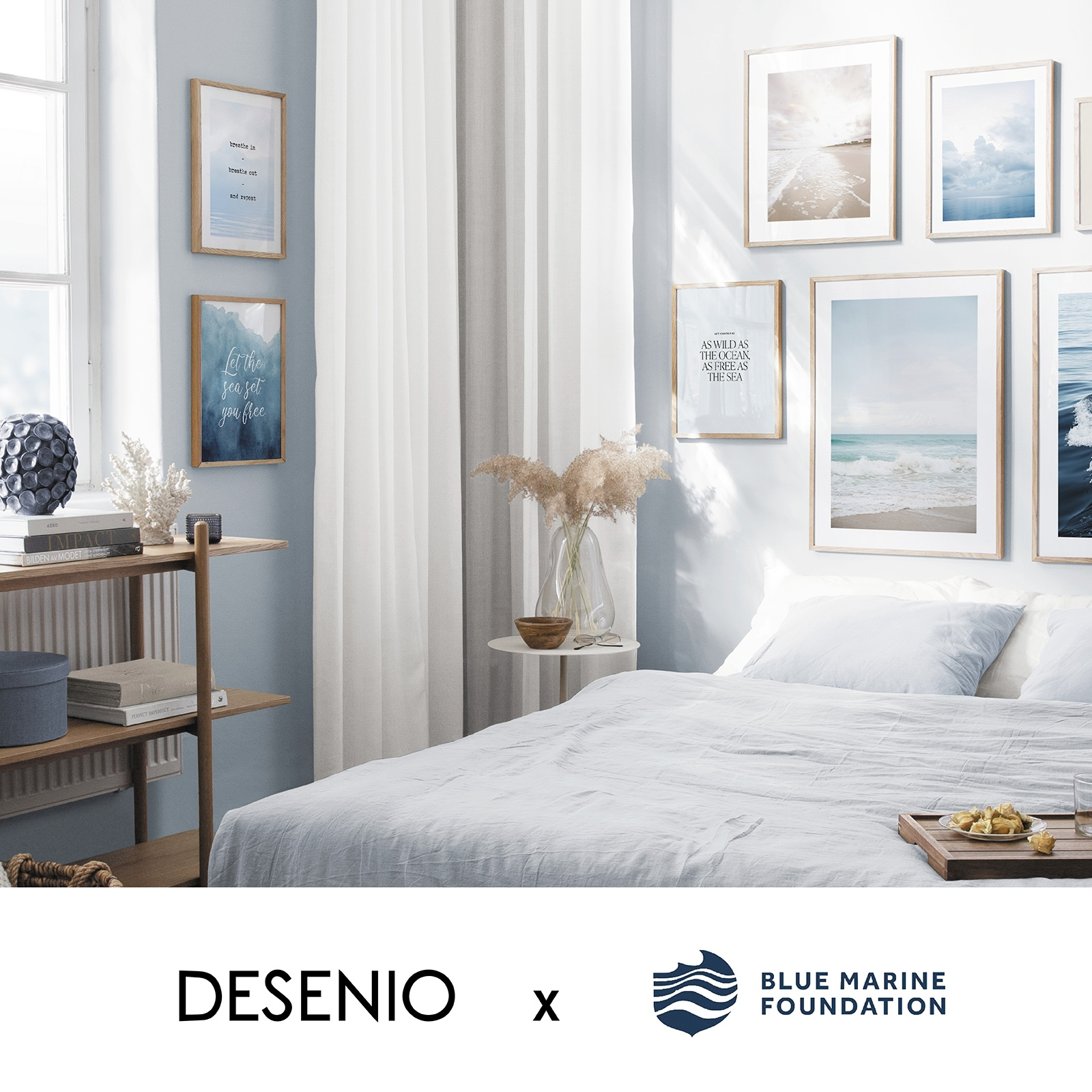 """Desenio and BLUE """"Clean Sea"""" image by Desenio for use by 360 Magazine"""