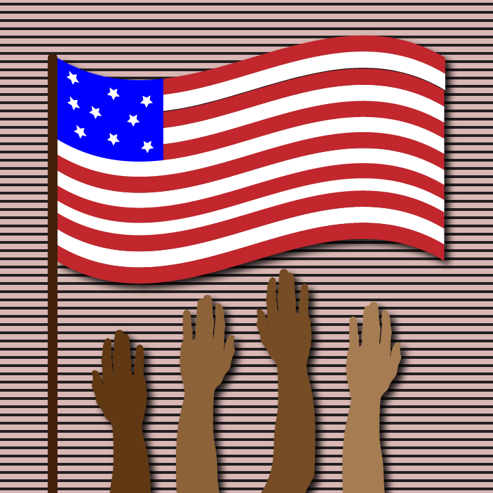 Flag illustration by Heather Skovlund for 360 Magazine