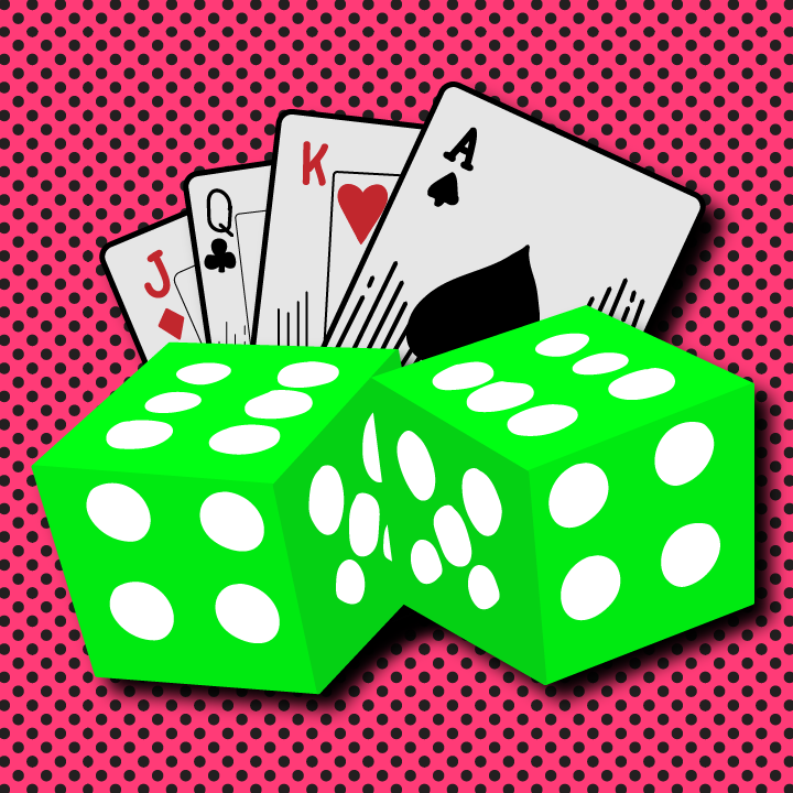 Cards and Dice illustration by Heather Skovlund for 360 Magazine