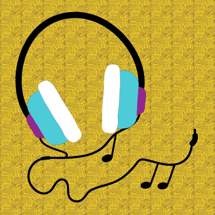 Headphones Illustration x Heather Skovlund x STACEY x Saturn Return for use by 360 Magazine