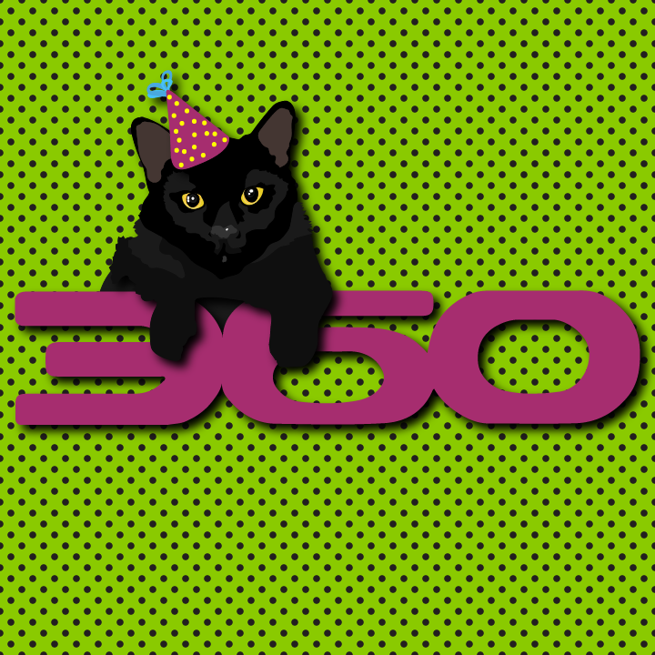 Party Hat Cat illustration by Heather Skovlund for 360 Magazine