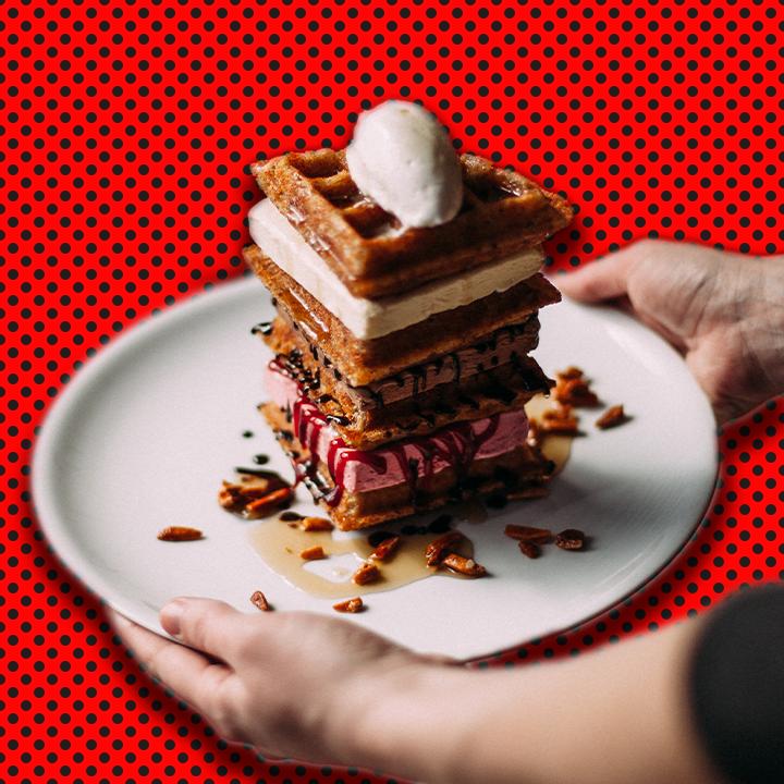 Waffle Tower illustration by Heather Skovlund for 360 Magazine