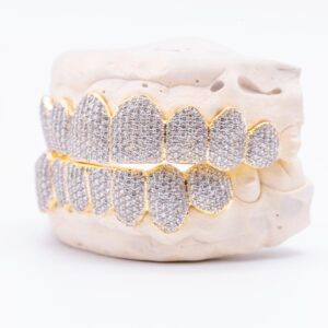 Greg Grillz x JuJu Smith Schuster grillz collab image via Kyra Breslin at One Fourteen Entertainment for use by 360 Magazine