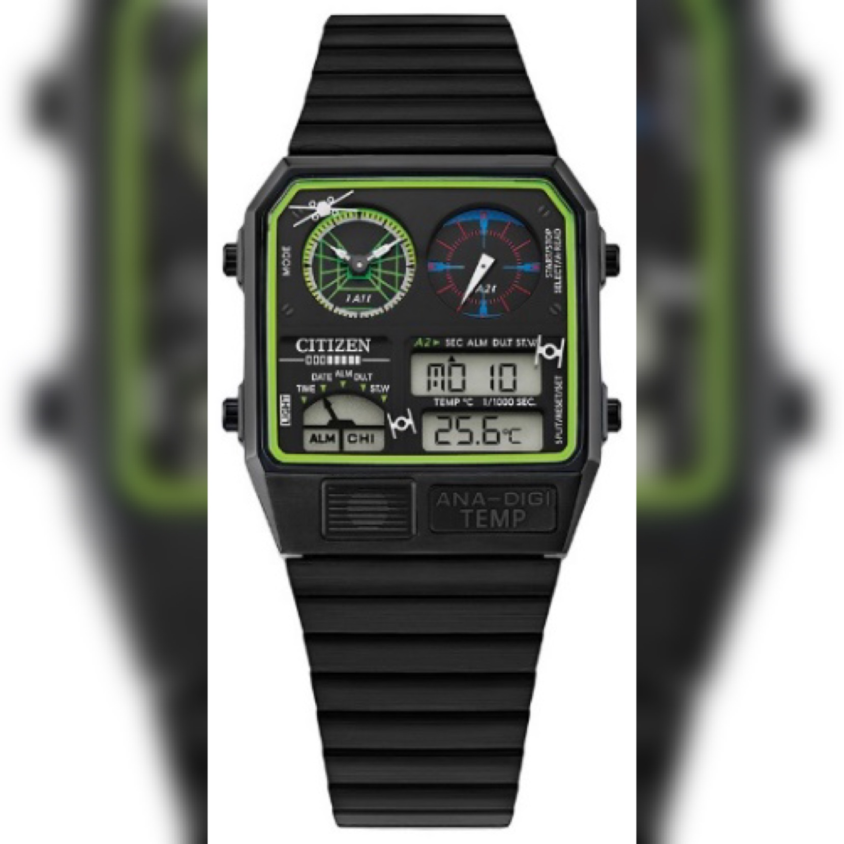 Trench Run themed watch by Citizen in collaboration by Star Wars via KINNEY + KINSELLA for use by 360 Magazine