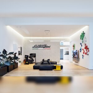 Lamborghini Lounge NYC Living Room image via Morgan Theys (Extension PR) for use by 360 Magazine