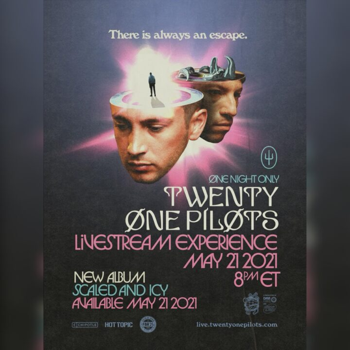 WENTY ONE PILOTS - LIVESTREAM EXPERIENCE image via Ross Anderson at Elektra Music Group for use by 360 Magazine
