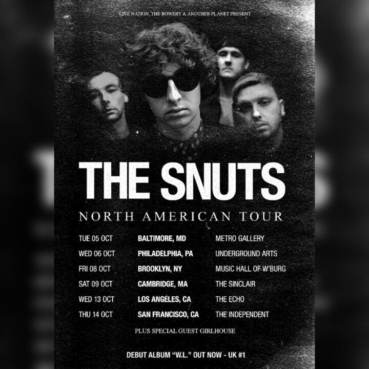 The Snuts Fall North American tour poster image Photo credit: Gary Williamson via Collin Citron at Elektra Music Group for use by 360 Magazine