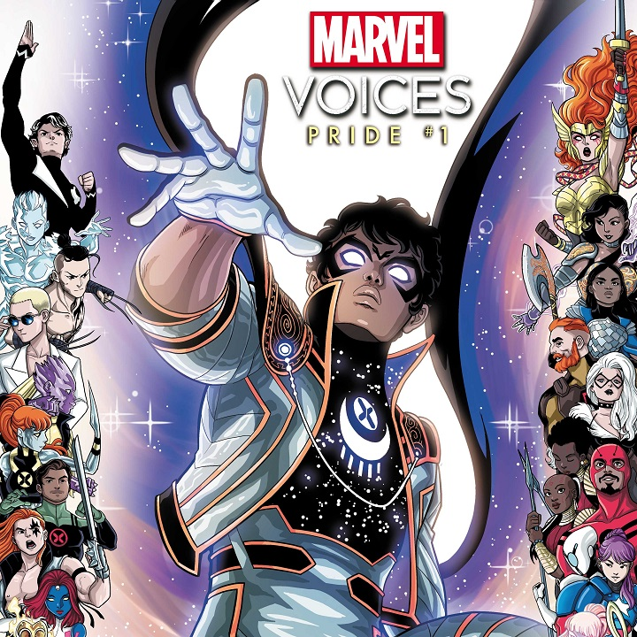 """""""MARVEL VOICES PRIDE#1"""" Variant Cover via Luciano Vecchio for Marvel Comics for use by 360 Magazine"""