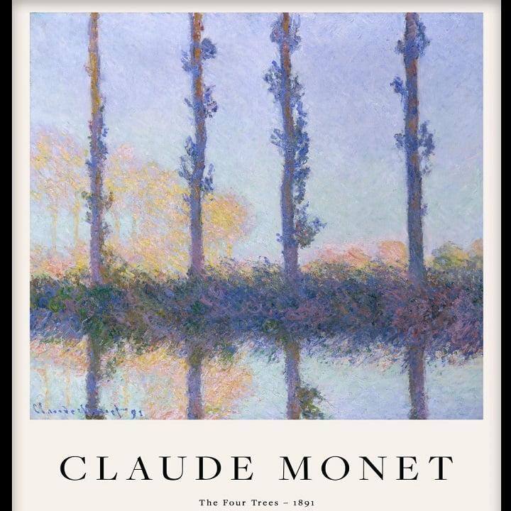Calude Monet's The Four Trees via Amanda Eklof for Desenio for use by 360 Magazine