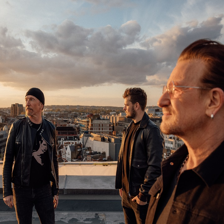 Martin Garrix, Bono, The Edge via Sony Music for use bt 360 Magazine
