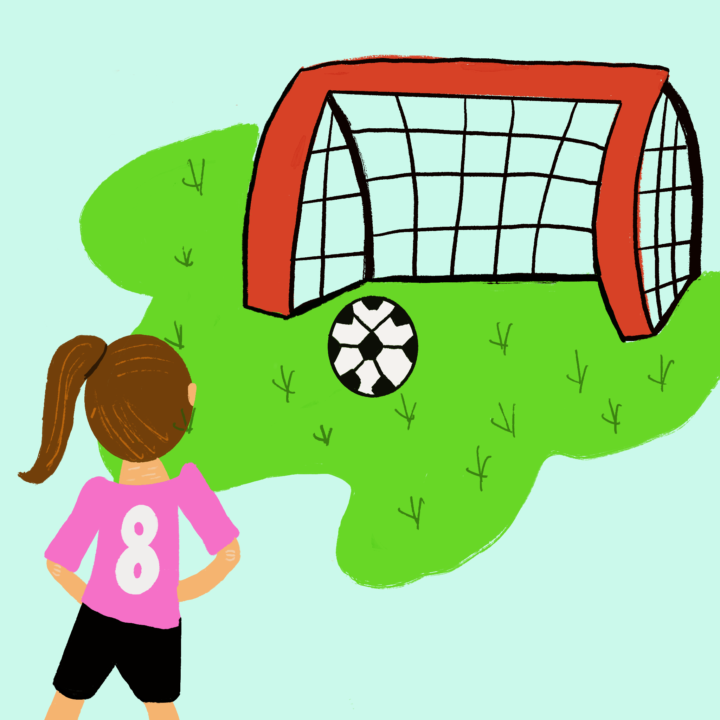 Soccer Illustration by Hannah Beck for use by 360 MAGAZINE.