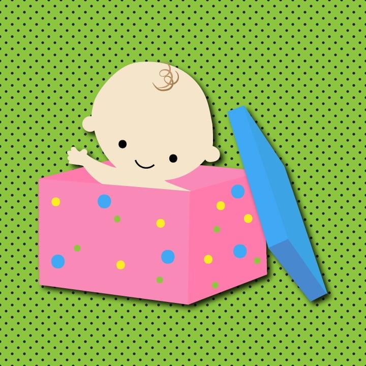 Baby illustration by Heather Skovlund