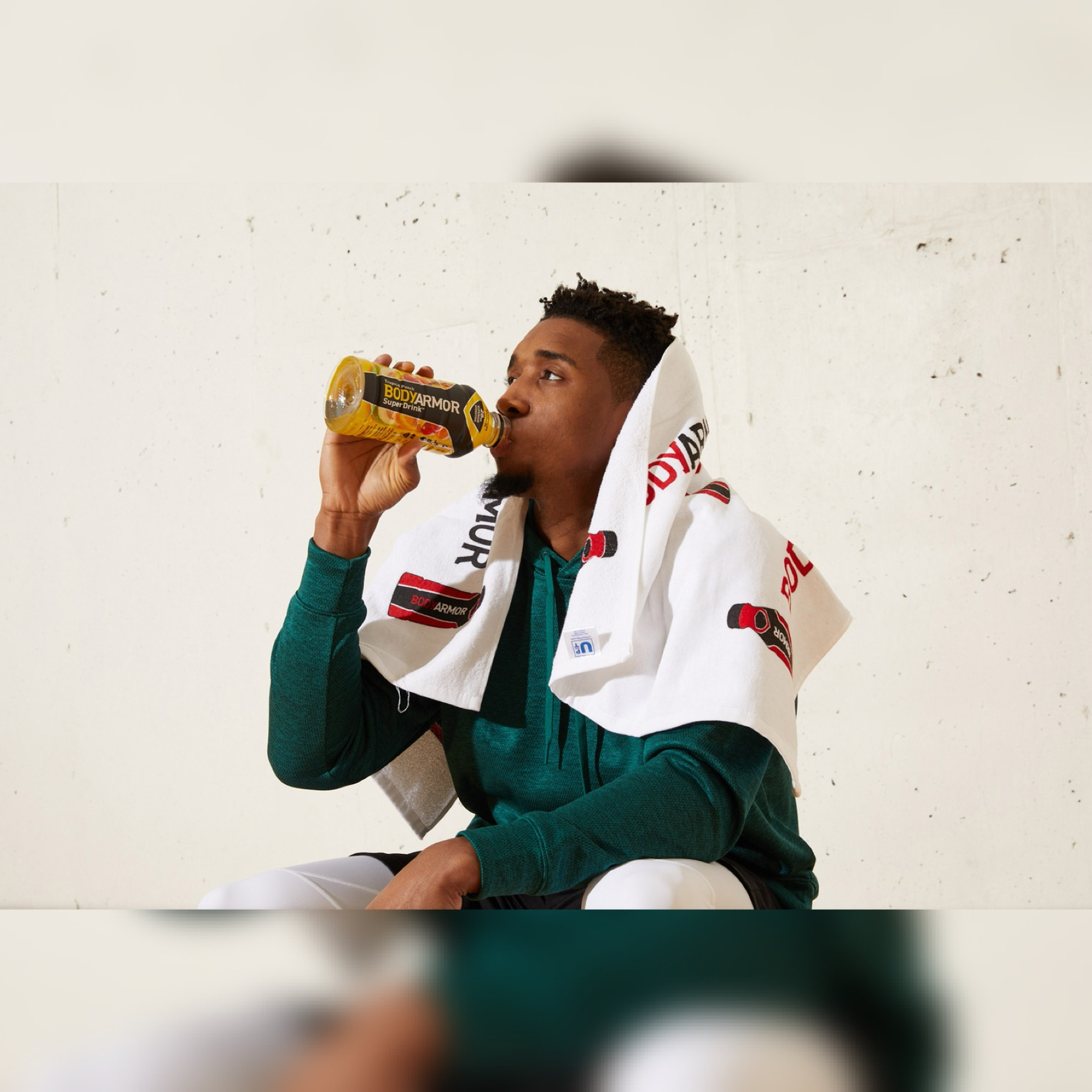 Photo of Donovan Mitchell by Bodyarmor for use by 360 Magazine