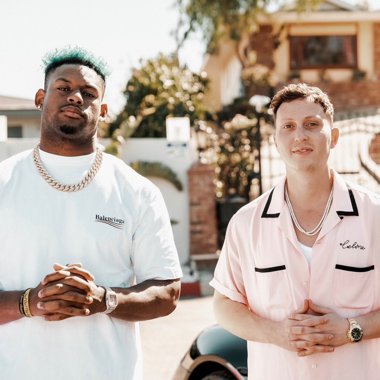 Greg Grillz x JuJu Smith Schuster collab for Grillz.com image via Kyra Breslin at One Fourteen Entertainment for use by 360 Magazine