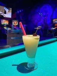 Yoshi's Island Boozy Slushy photo x Emporium Arcade Bar Las Vegas for use by 360 Magazine