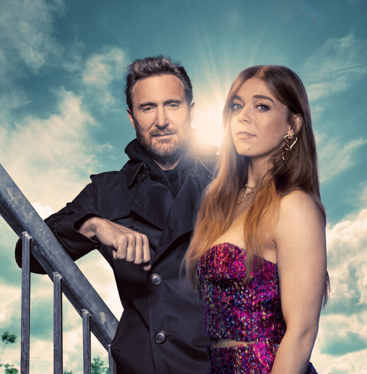 Becky Hill and David Guetta press image via Hannah Flaherty for use by 360 Magazine