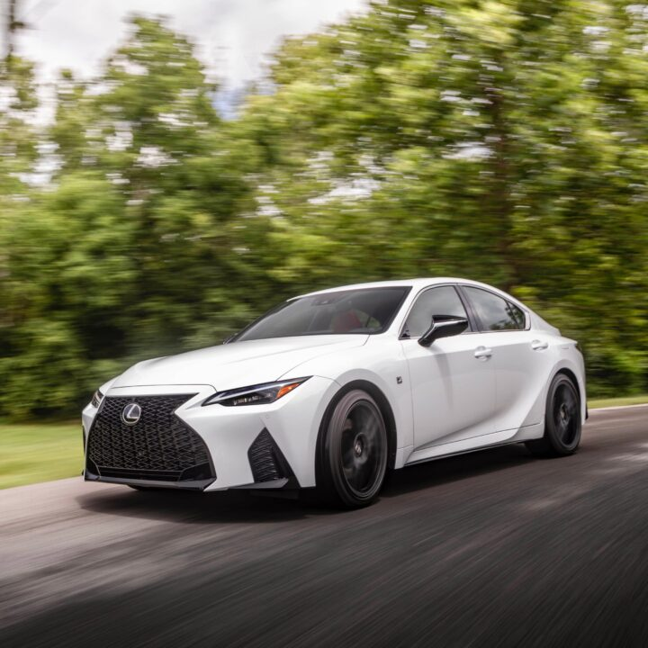 2021 Lexus IS 350 F-Sport Ultra White image via Christine N. Henley (TMNA) for use by 360 Magazine