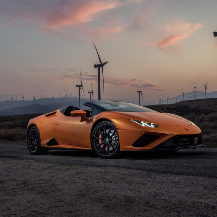 Huracán EVORWD Spyder image provided by Morgan Theys and Extension PR for use by 360 MAGAZINE.