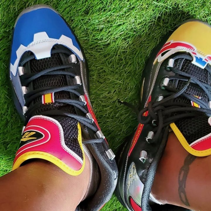 Reebok x Power Rangers sneakers image via Vaughn Lowery for use by 360 Magazine