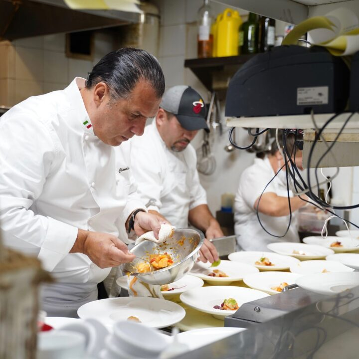 Chef Claudio Lobina at SOBEWFF intimate dinner at the Continuum via Eliot Stares at ESPR INC for use by 360 Magazine