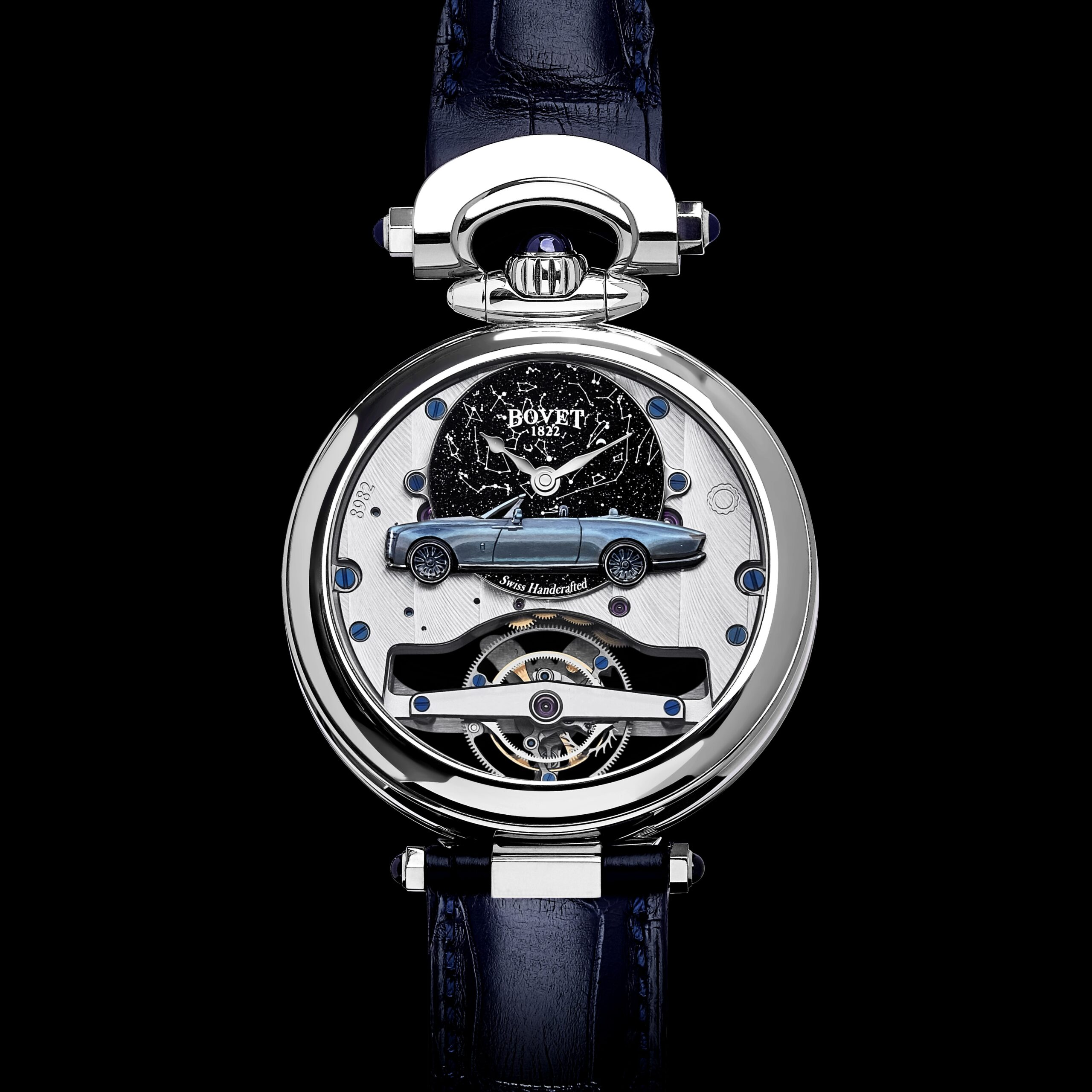 Rolls-Royce Tail Bovet Gentlemans Timepiece provided by Gerry Spahn and Rolls-Royce for use by 360 MAGAZINE.