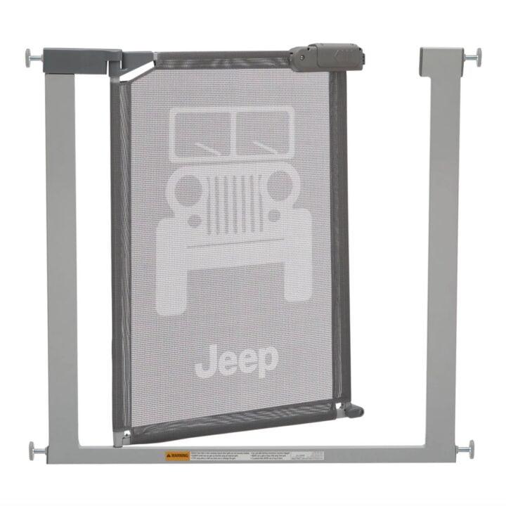 Jeep Adjustable Baby Safety Gate via Regan Sullivan at 5WPR by Delta Children for use by 360 Magazine