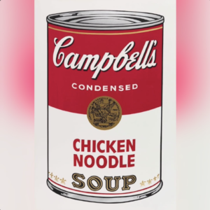 Andy Warhol's Chicken Noodle Soup via ArtLife for use by 360 Magazine