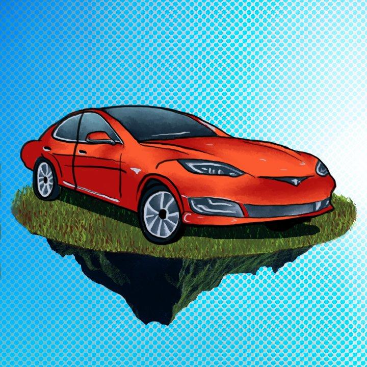 Tesla Illustration by Alex Bogdan for use by 360 Magazine