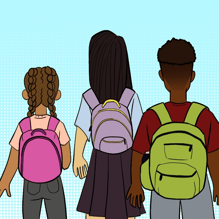 Back to School illustration by Samantha Miduri for use by 360 Magazine