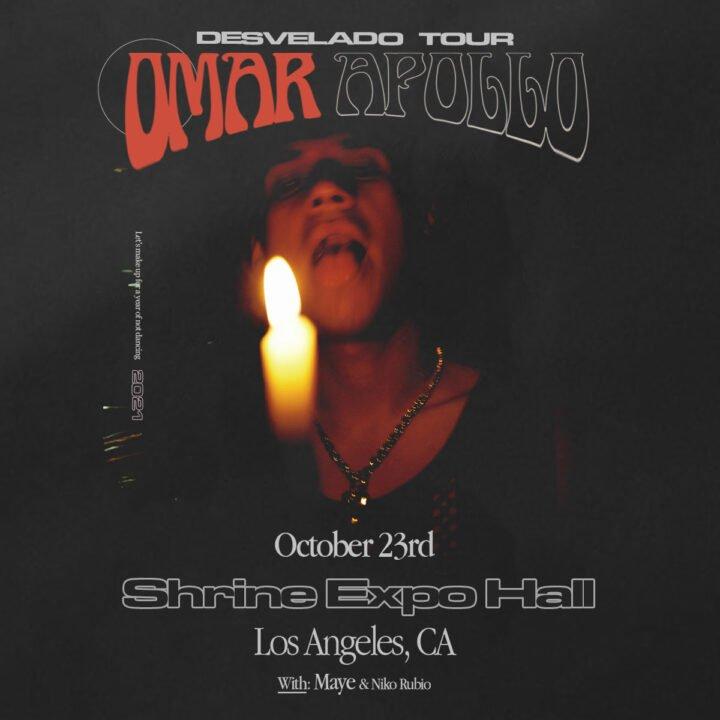 Omar Apollo Tour Image via Orienteer for use by 360 Magazine