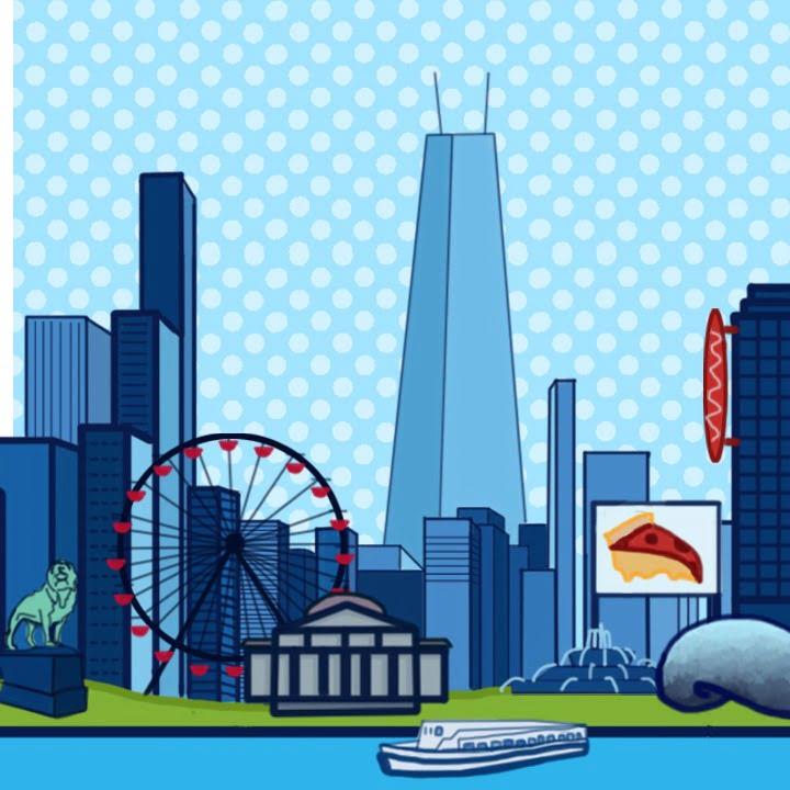 Chicago illustration by Alex Bogdan for use by 360 Magazine
