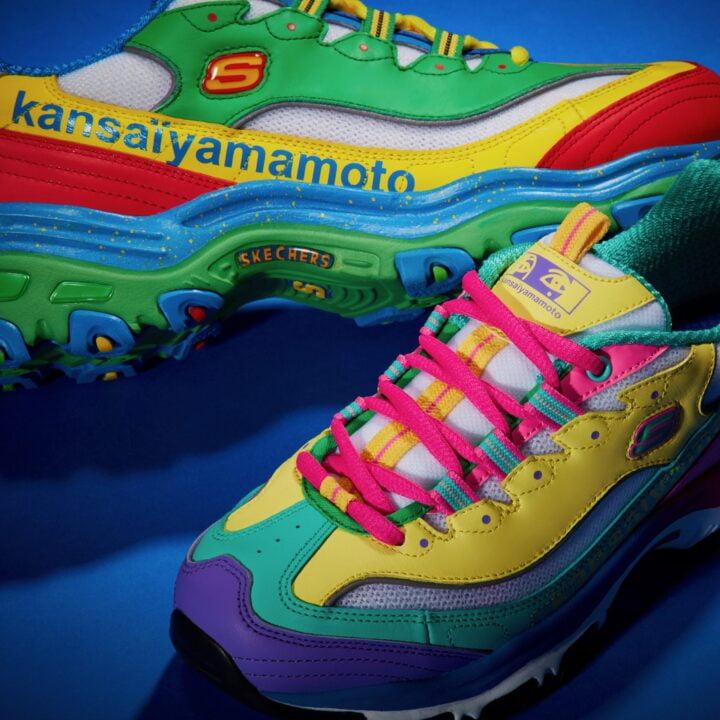 Skechers x kansaïyamamoto D'Lites image via Taylor Cooney at Skechers for use by 360 Magazine