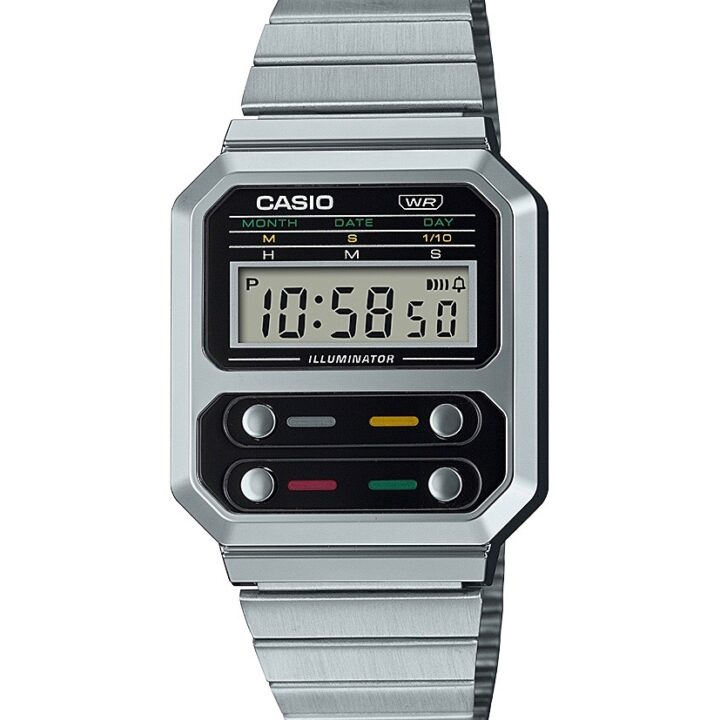 Casio's A100WE-1AVT Timepiece image via Andrew Bowyer at Coyne PR for use by 360 Magazine