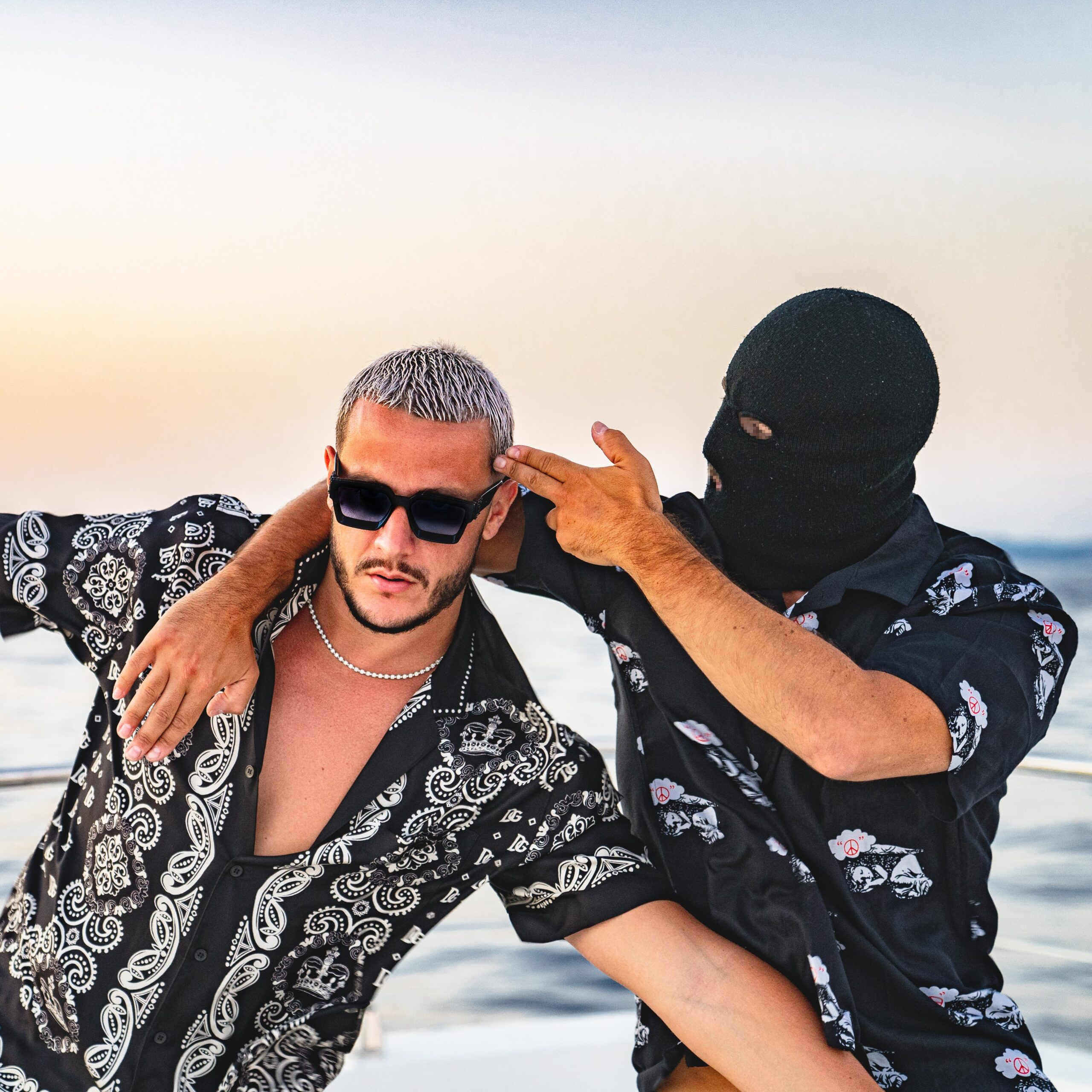 DJ Snake and Malaa via Guess Agency for use by 360 Magazine