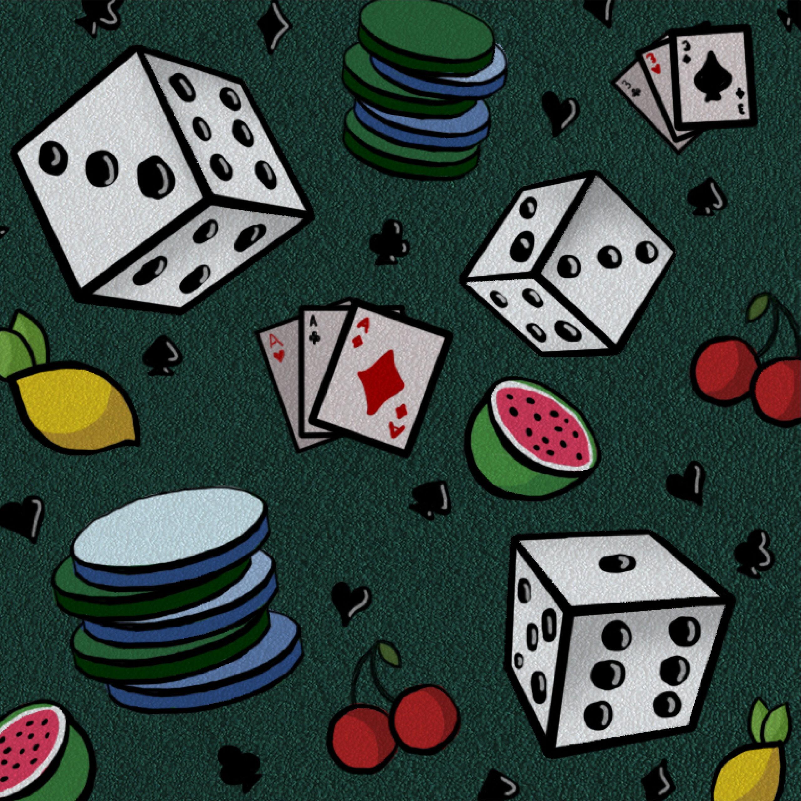 Alex Bogdan illustration for 360 MAGAZINE casino and gaming article