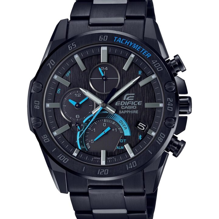 Casio's EDIFICE Collection EQB1100XDC1A watch model product image via Andrew Bowyer at Coyne PR for use by 360 Magazine