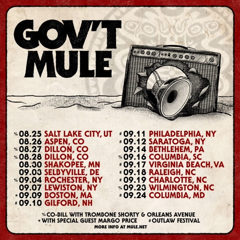 Govt Mule Tour poster Photo via Bari Lieberman of Press Here Publicity for use by 360 Magazine