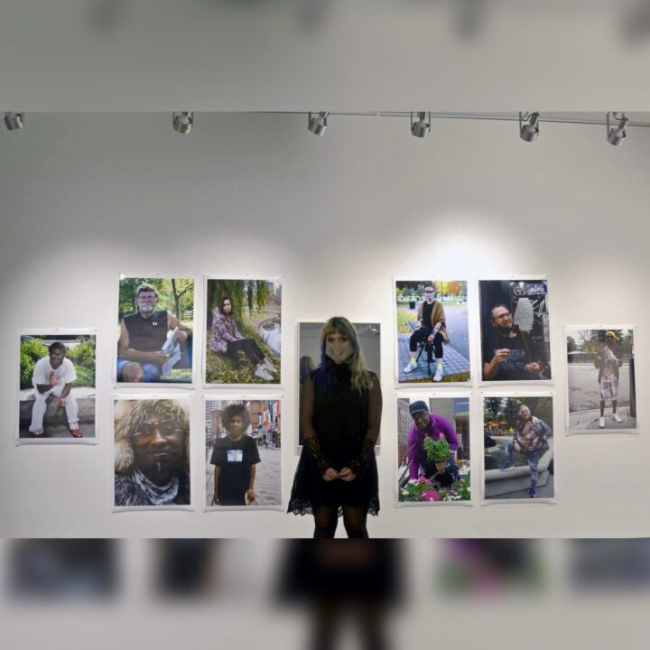 """""""People Watching"""" photography exhibit by Emily Bunn, photographed by Emily Bunn, for use by 360 Magazine """"Emily"""" page"""