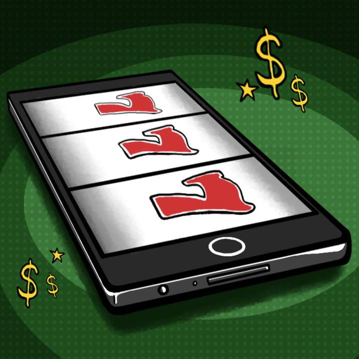 Online Casino illustration by Alex Bogdan for use by 360 Magazine
