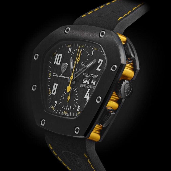 Cuscinetto watch image from Tonino Lamborghini Timepieces × BeauGeste Luxury Brands via BEAUGESTE INC. MEDIA CONTACT: Katia Graytok at Kaleidoscope Luxury PR & Communications for use by 360 Magazine