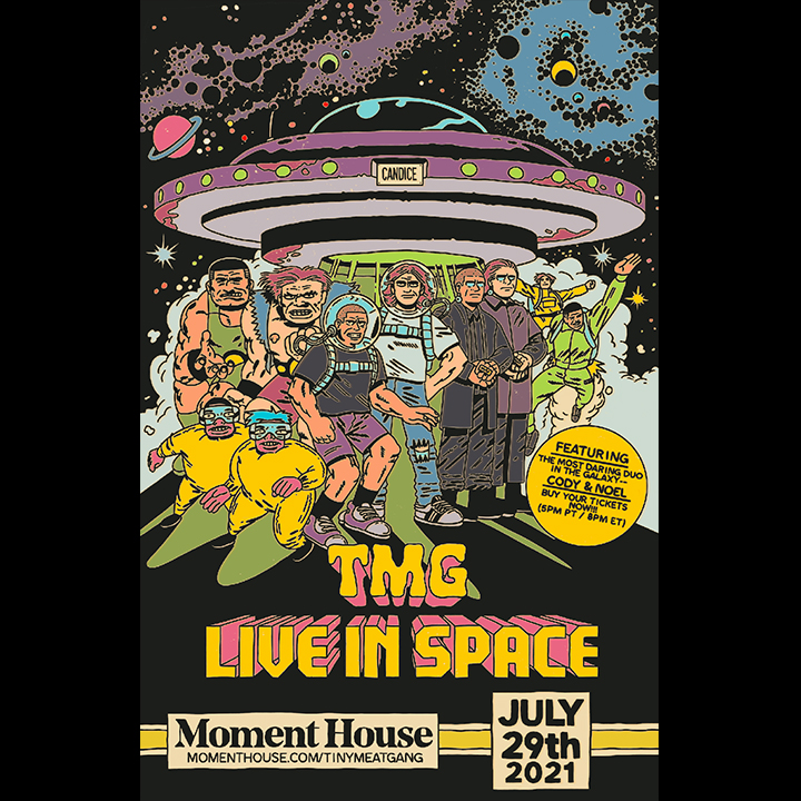TMG Live In Space Poster by bbgunpress for use by 360 Magazine