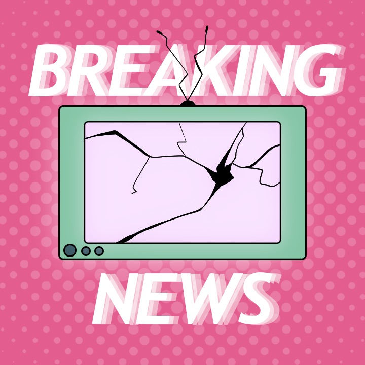 Breaking News illustration by Samantha Miduri for use by 360 magazine