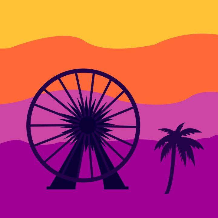 Coachella illustration by Sara Davidson for use by 360 Magazine