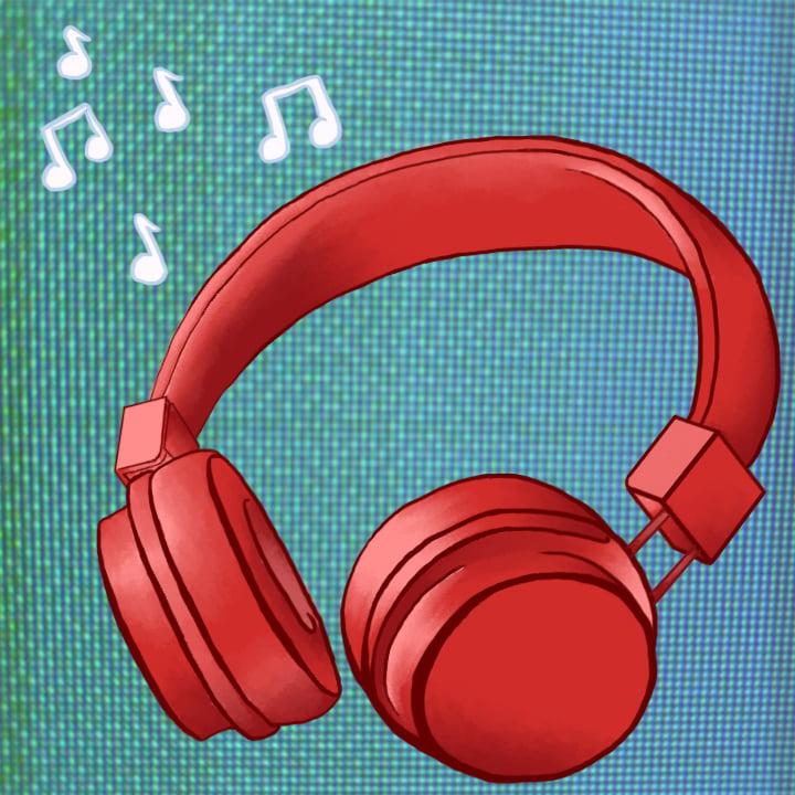 Headphones illustration by Alex Bogdan for use by 360 Magazine