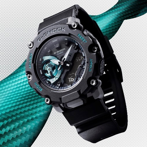 G-SHOCK and Casio's the GA2200 line-up image via  Taylor Georgeson at M&CSATAACHI Sports and Entertainment North America for use by 360 Magazine
