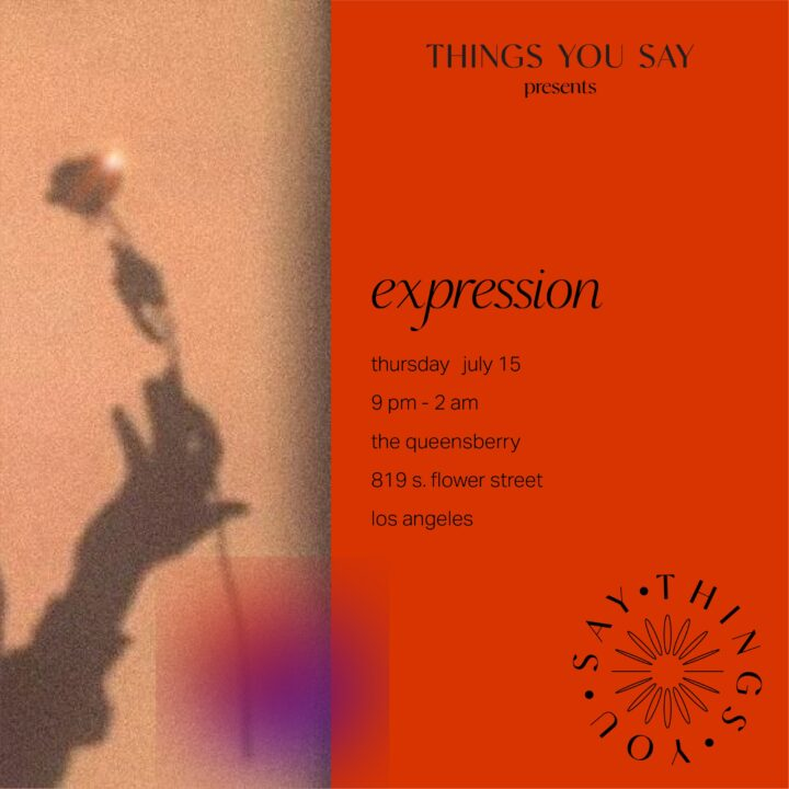 Things You Say presents Expression image by Things You Say for use by 360 Magazine
